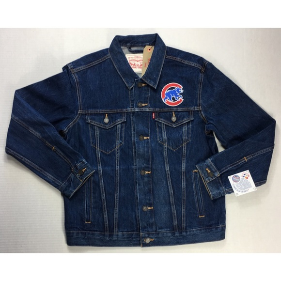 115958d4 Levi's Jackets & Coats | Levis Jean Jacket Chicago Cubs Baseball ...